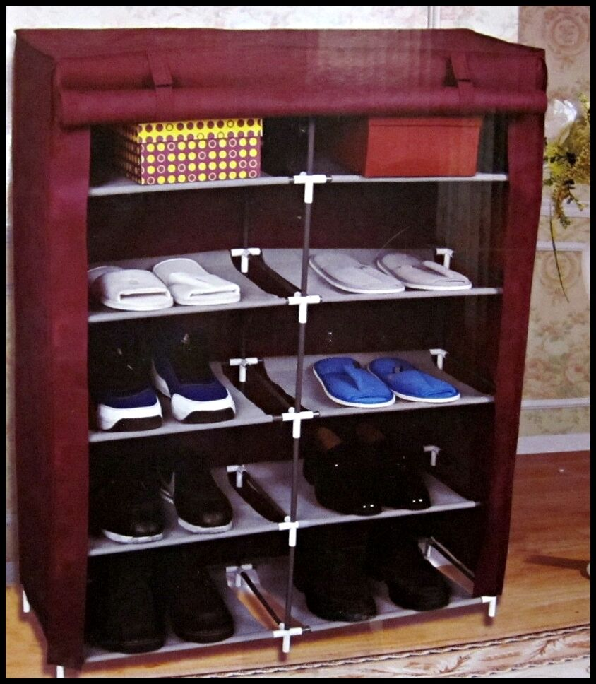 schuhschrank stoff regal schuhe kommode schuhregal 20 paar schuh schrank ebay. Black Bedroom Furniture Sets. Home Design Ideas