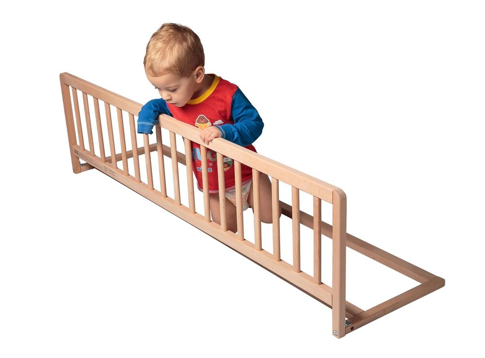 Safetots Wooden Extra Wide Baby Toddler Natural Bed Guard