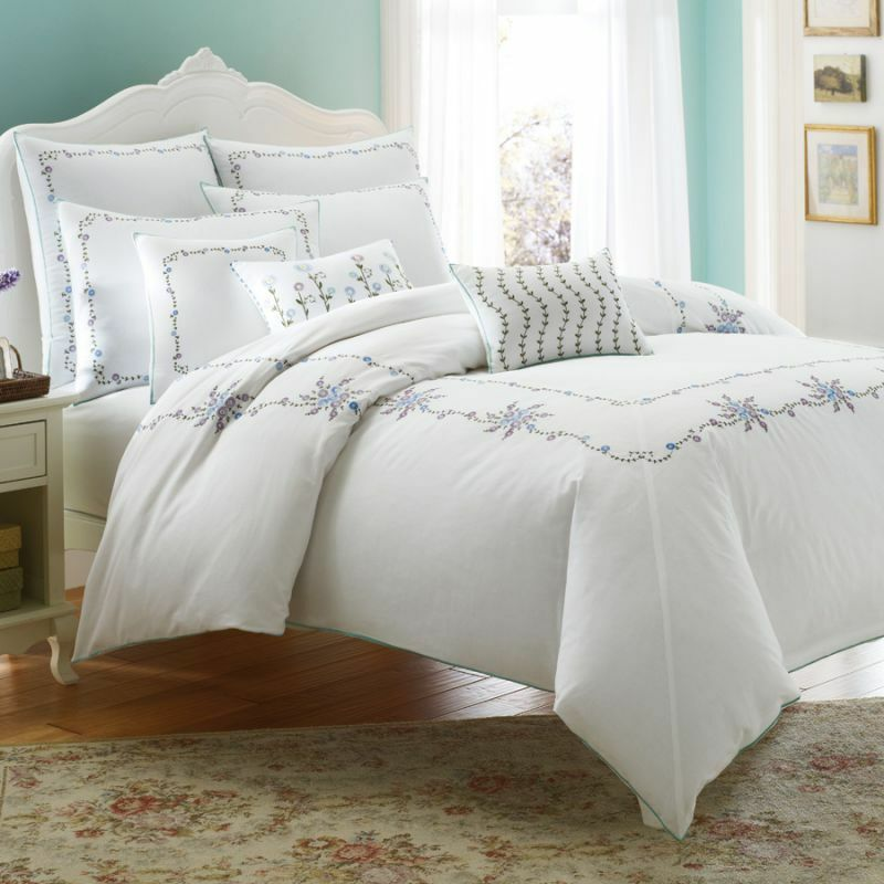 3 Pc Laura Ashley Alicia Twin Duvet Amp Euro Standard Shams