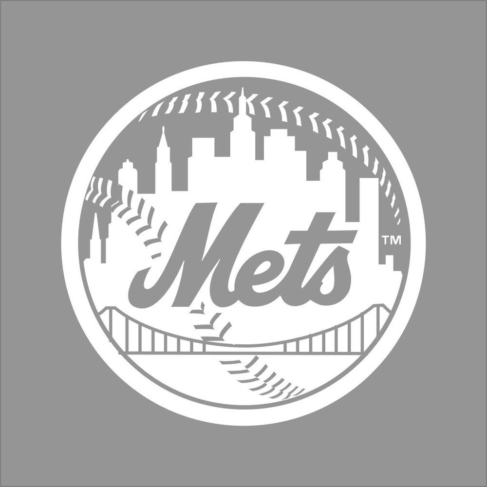 New York Mets Mlb Team Logo 1 Color Vinyl Decal Sticker