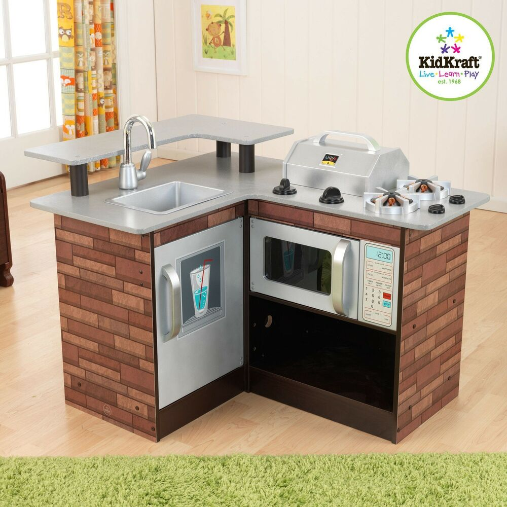 Kidkraft Chillin' & Grillin' Wooden Kitchen Chill And Grill 53311 Corner