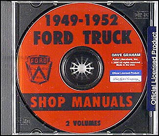 Ford Pickup And Truck Cd Shop Manual 1949 1950 1951 1952