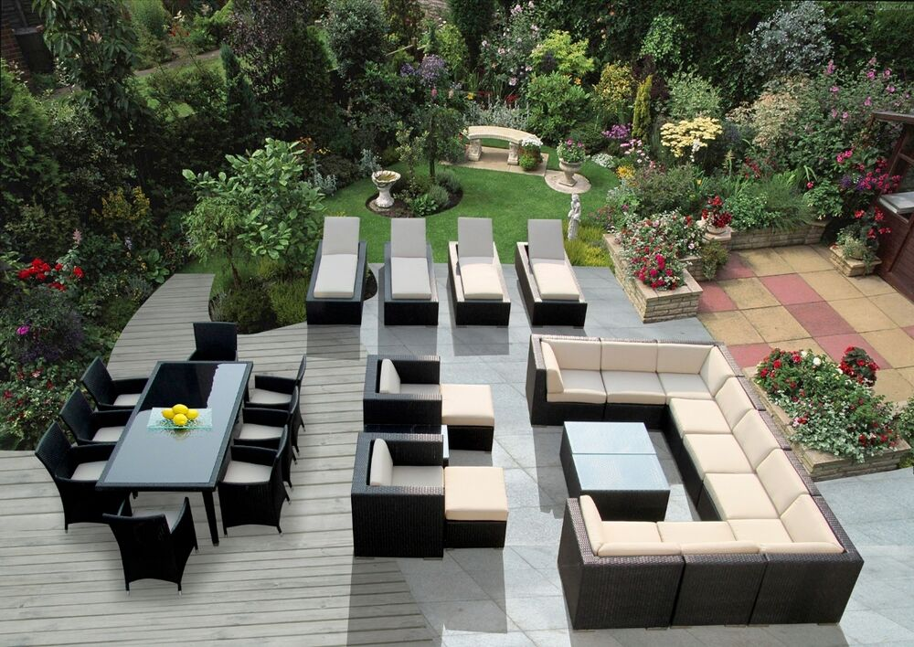 Beautiful Outdoor Patio Wicker Furniture 29 Pc Sofa