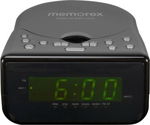 memorex alarm clock cd cd r cd rw mc7223 am fm radio stereo aux line in for mp3 ebay. Black Bedroom Furniture Sets. Home Design Ideas
