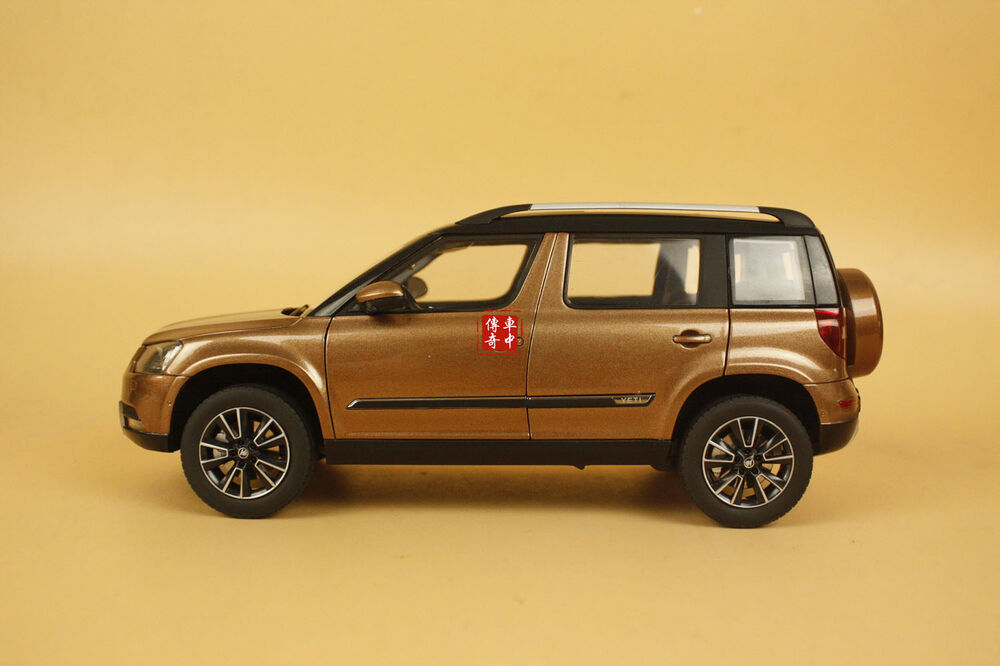 1 18 2013 skoda yeti suv model car bronze coloured ebay. Black Bedroom Furniture Sets. Home Design Ideas