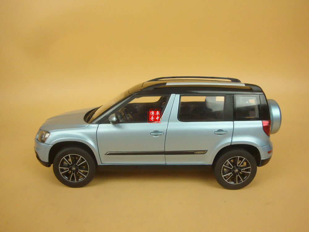 1 18 2013 skoda yeti suv model car blue color ebay. Black Bedroom Furniture Sets. Home Design Ideas