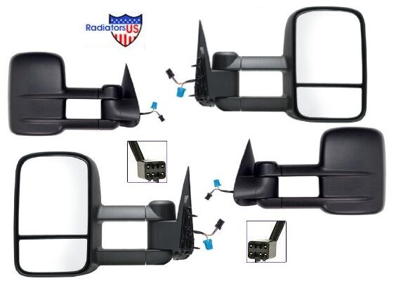 1999 2000 2001 2002 silverado 1500 2500 3500 tow extendable mirror pair ebay. Black Bedroom Furniture Sets. Home Design Ideas