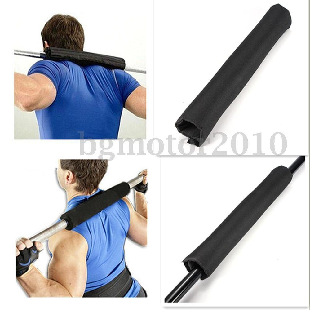 Barbell pad gel supports squat bar weight lifting pull up