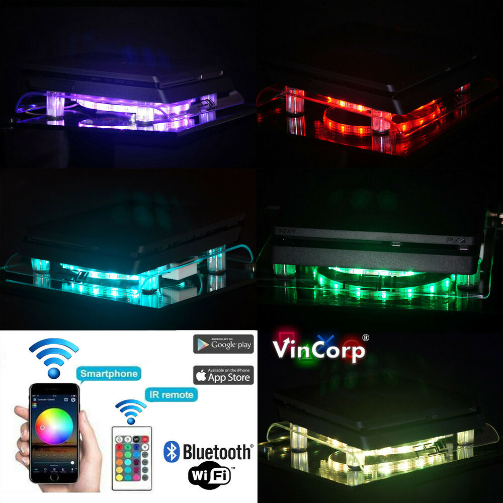 Multicolor Playstation 4 Ps4 Pro Slim Rgb Led Design