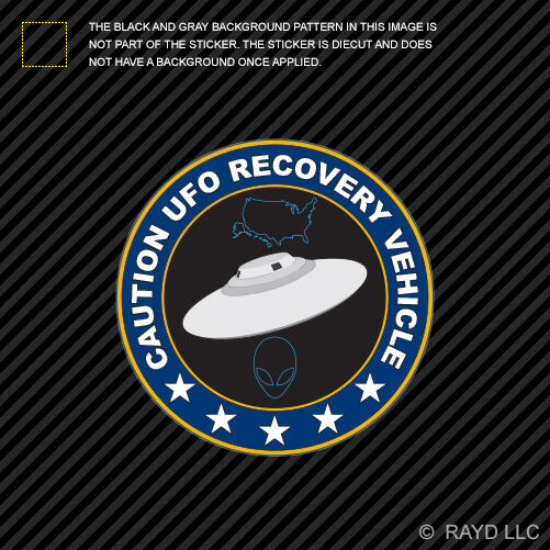 Ufo Recovery Vehicle Sticker Decal Self Adhesive Vinyl