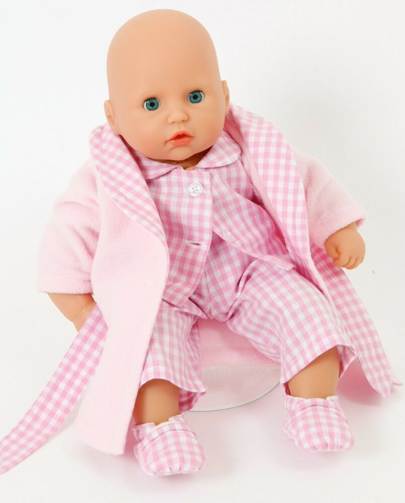 PINK CHECK SLEEP SET MY FIRST BABY ANNABELL[12-14INS] PJS,DRESSING ...