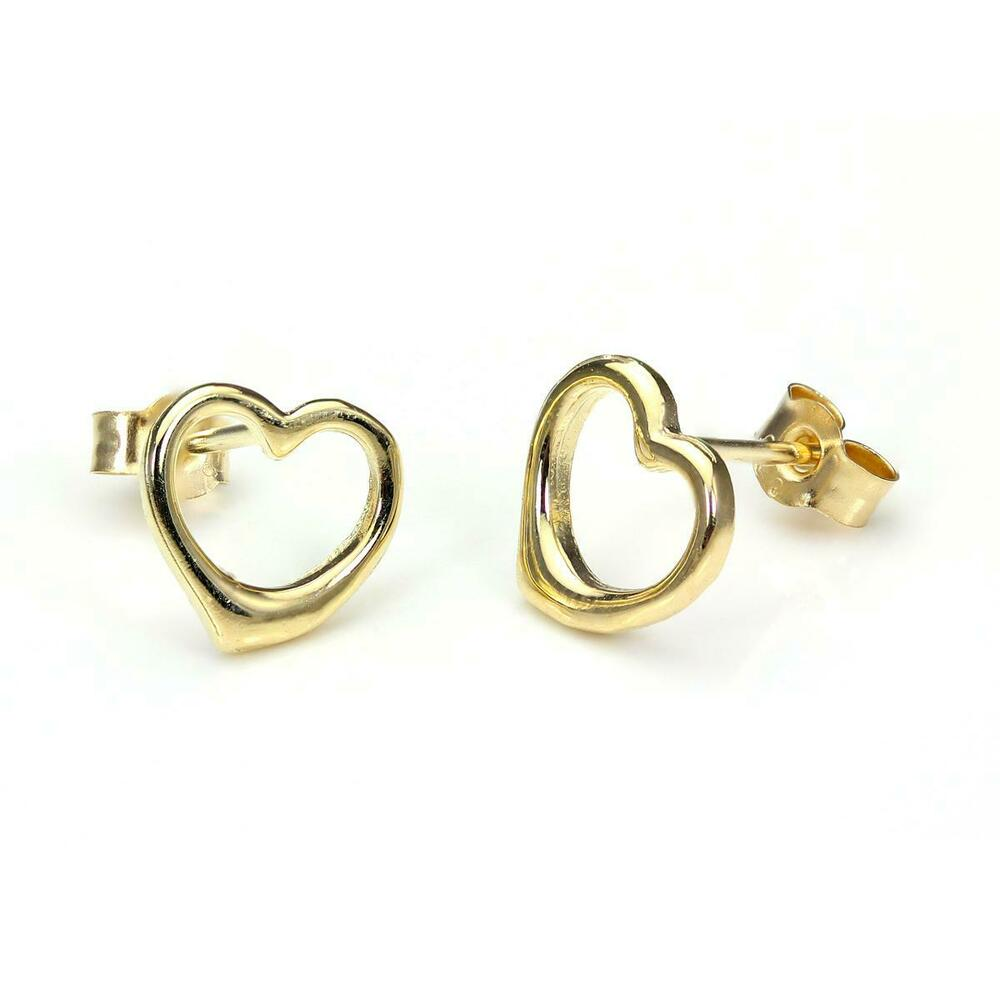 heart earrings gold - photo #23