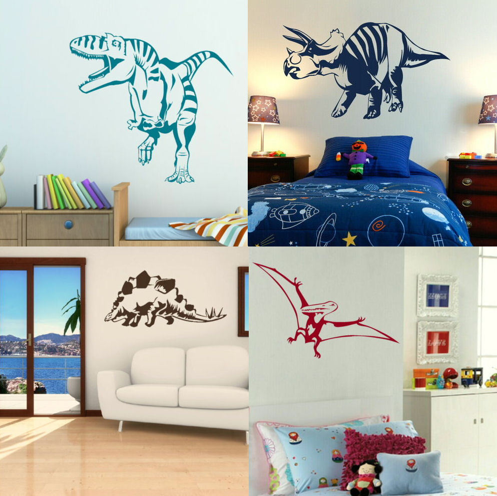 Dinosaur Wall Stickers! Boys Dino Bedroom Art, Lads Room