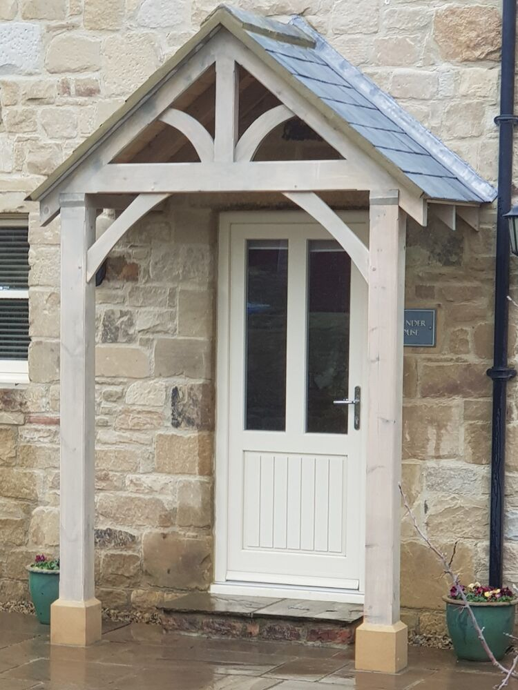 Bespoke Green Oak Porch Front Door Canopy Handmade In