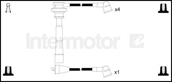73739 ignition cable leads kit mitsubishi l200 l400 space wagon 4g63 4g64  g63b | ebay