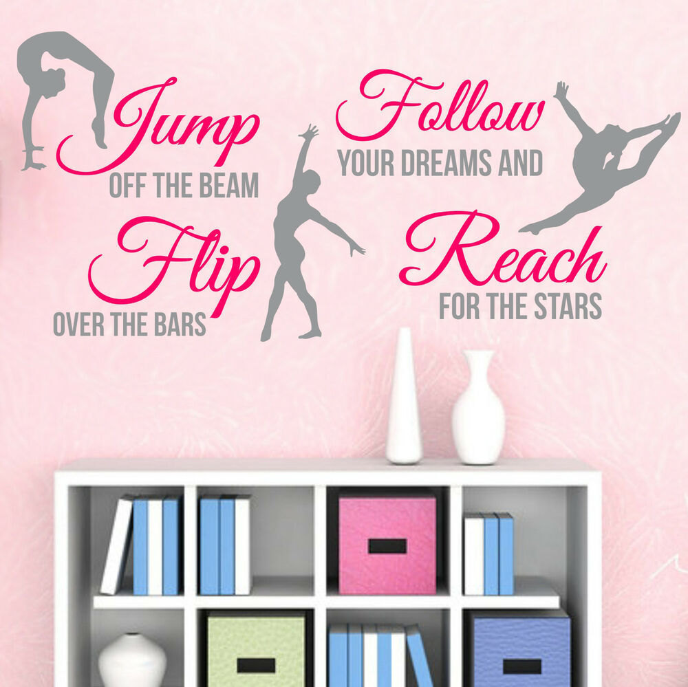 2-Color Gymnastics Dance GIRLS SPORT Vinyl Wall Decor