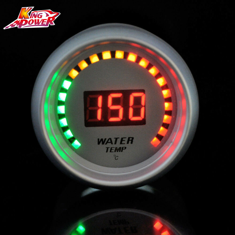 Led Auto Gauges : New white auto car quot mm red digital color led water