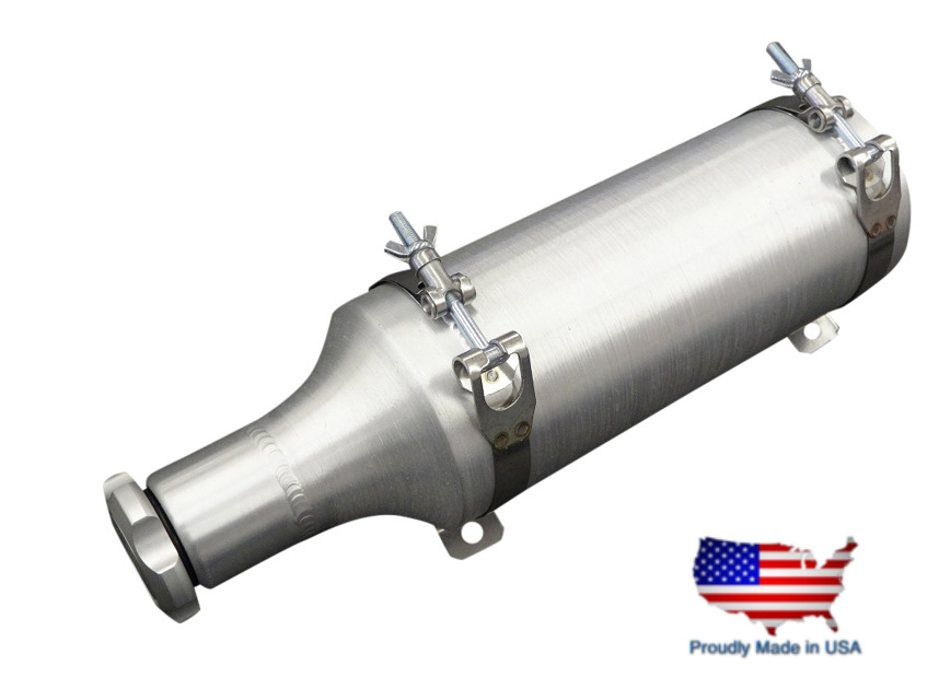 Spun Aluminum Gas Tank 4x10 Bam Fuel Tube 1 2 Gallon