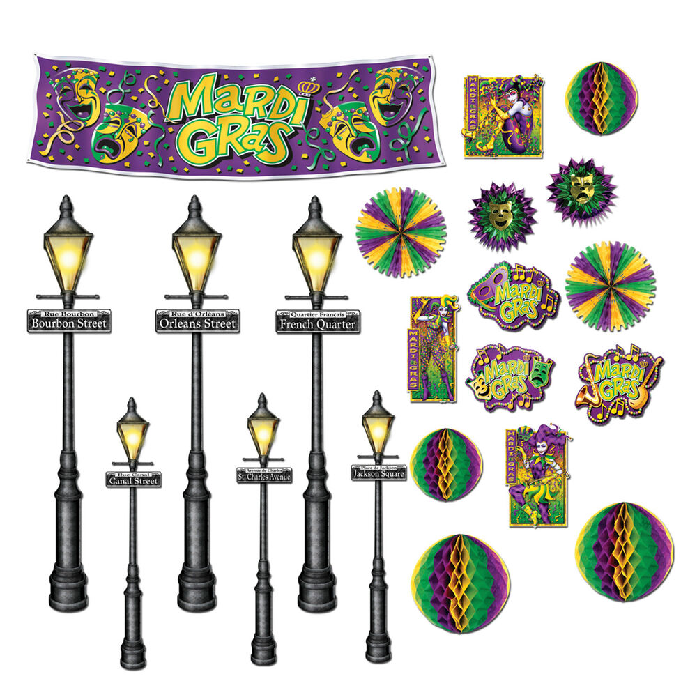 MARDI GRAS Fat Tuesday French Quarter Party Decoration