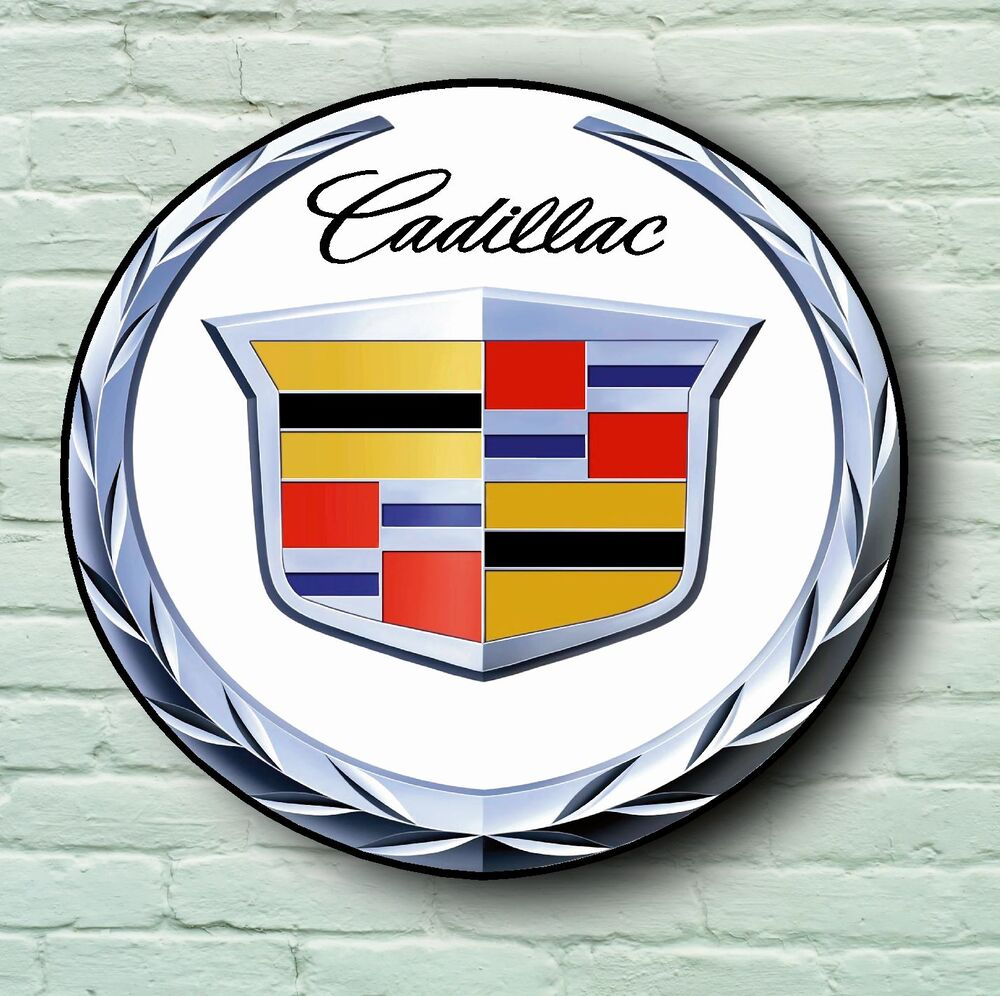 CADILLAC LOGO 2FT LARGE GARAGE SIGN WALL PLAQUE CLASSIC