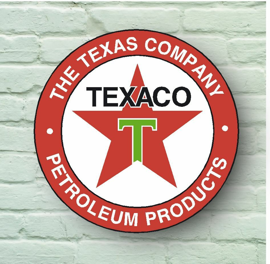 LARGE RETRO STYLE TEXACO 2FT GARAGE SIGN WALL PLAQUE