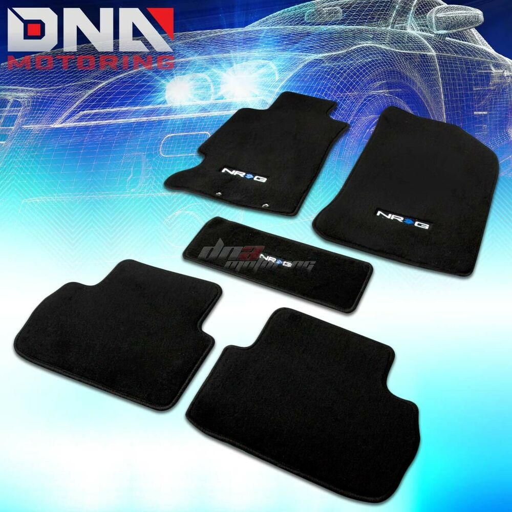 FOR 02-06 ACURA RSX K20 NYLON BLACK FLOOR LINERS CAR MATS