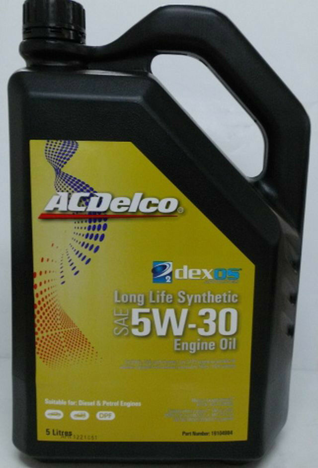 genuine holden acdelco dexos 2 5w30 synthetic oil 5 litre