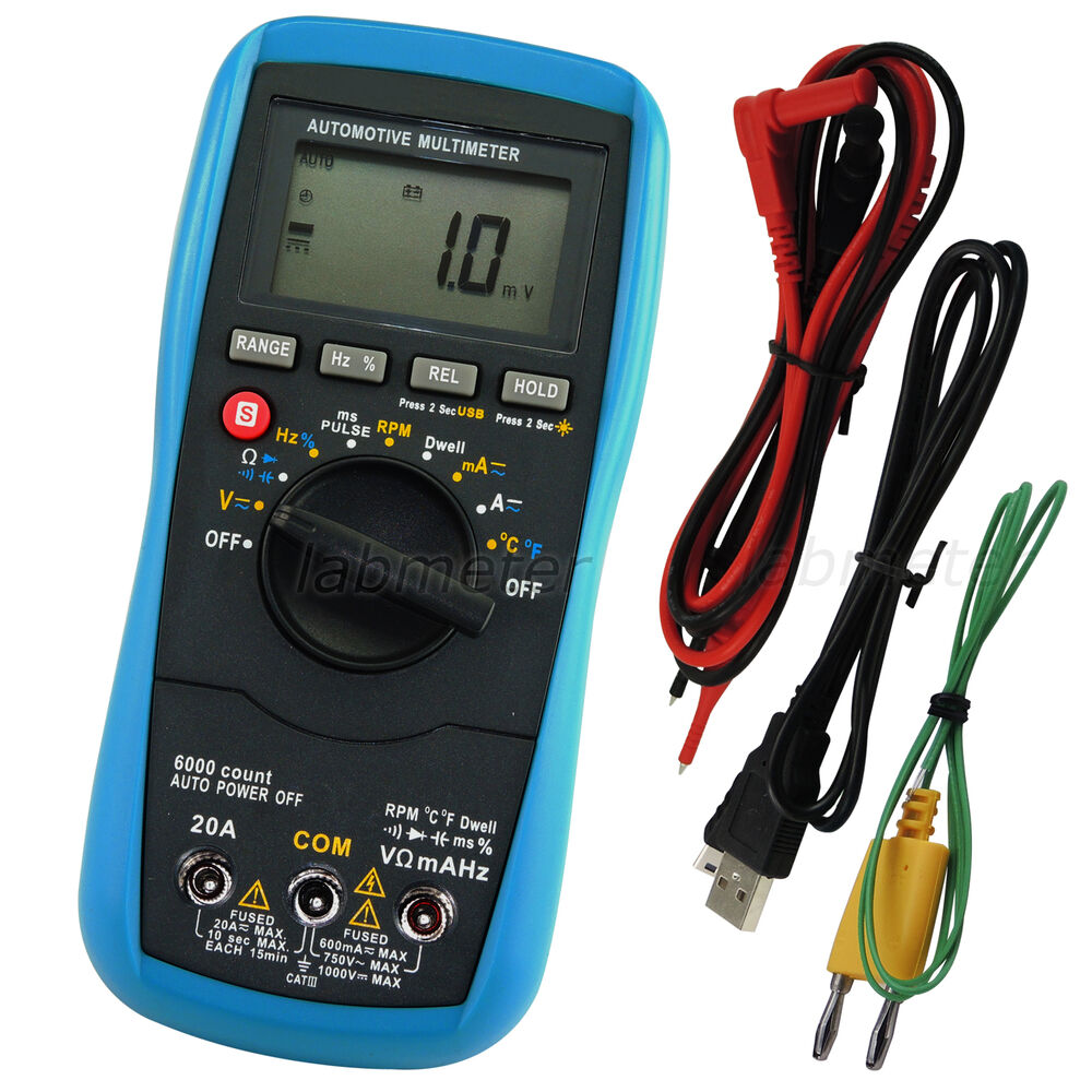 Car Voltage Regulator Testers : Digital automotive multimeter auto range ac dc voltage