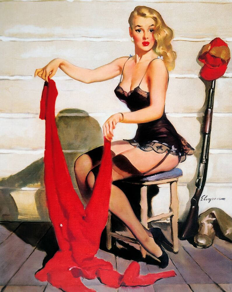1940s Pin-Up Girl Suit for Hunting Picture Poster Print ...