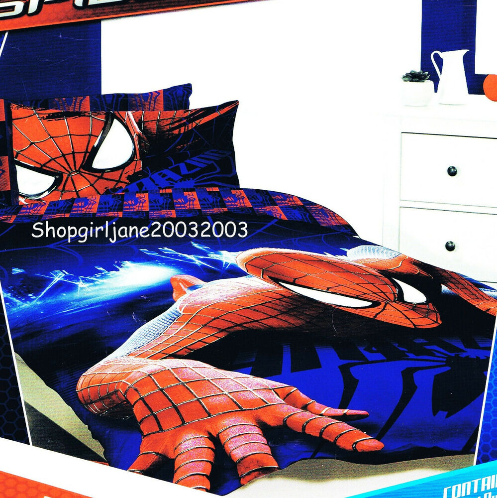 Spiderman Marvel Wall Crawler Double/US Full Bed Quilt ...