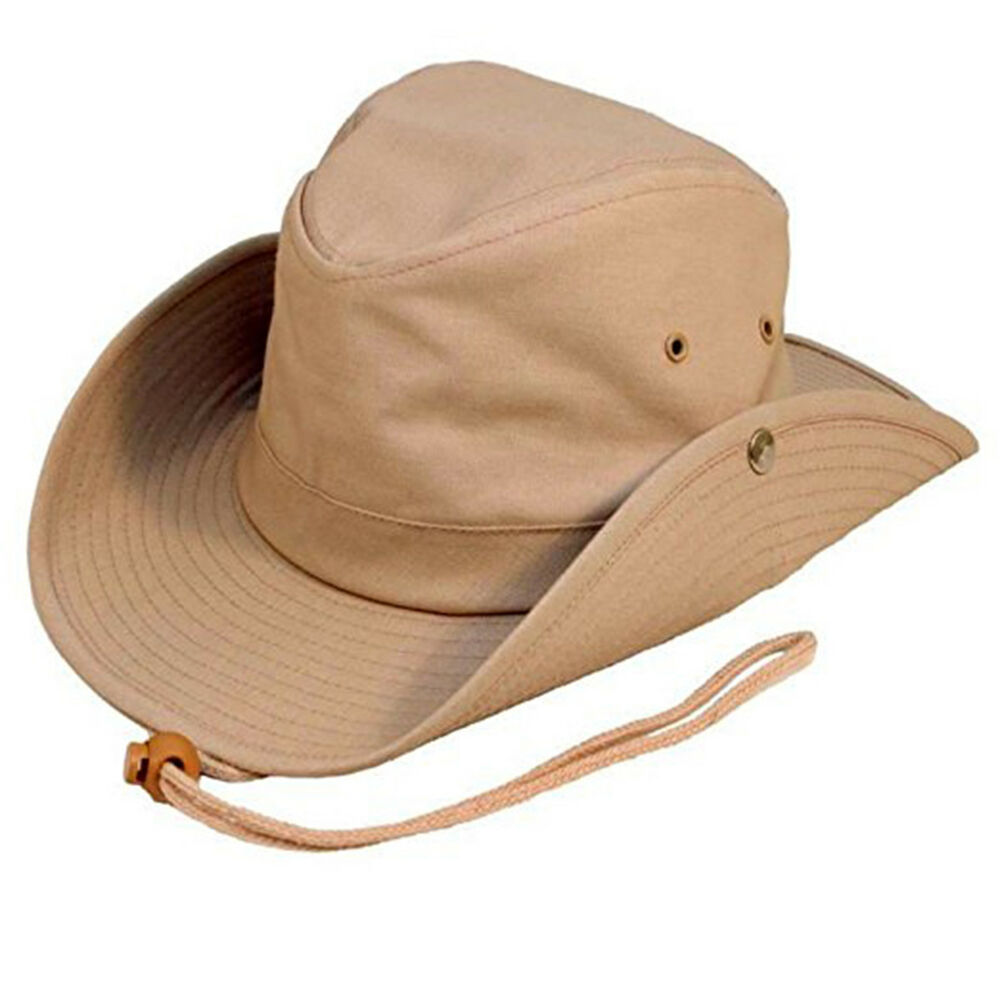 Australian Outback Bush Hat With Chin Cord Studs 3
