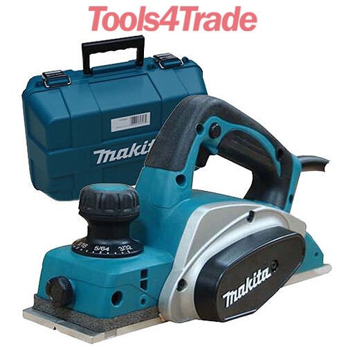 "Tools 4 Trade >> Makita KP0800K 3""/82mm Heavy Duty Planer 2mm Cut 620w in Carry Case 240V KP0800 