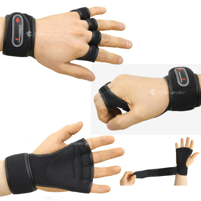 Weight Lifting Gym Gloves Training Fitness Wrist Wrap: Gym Gloves Weight Lifting Training Workout Wrist Wrap