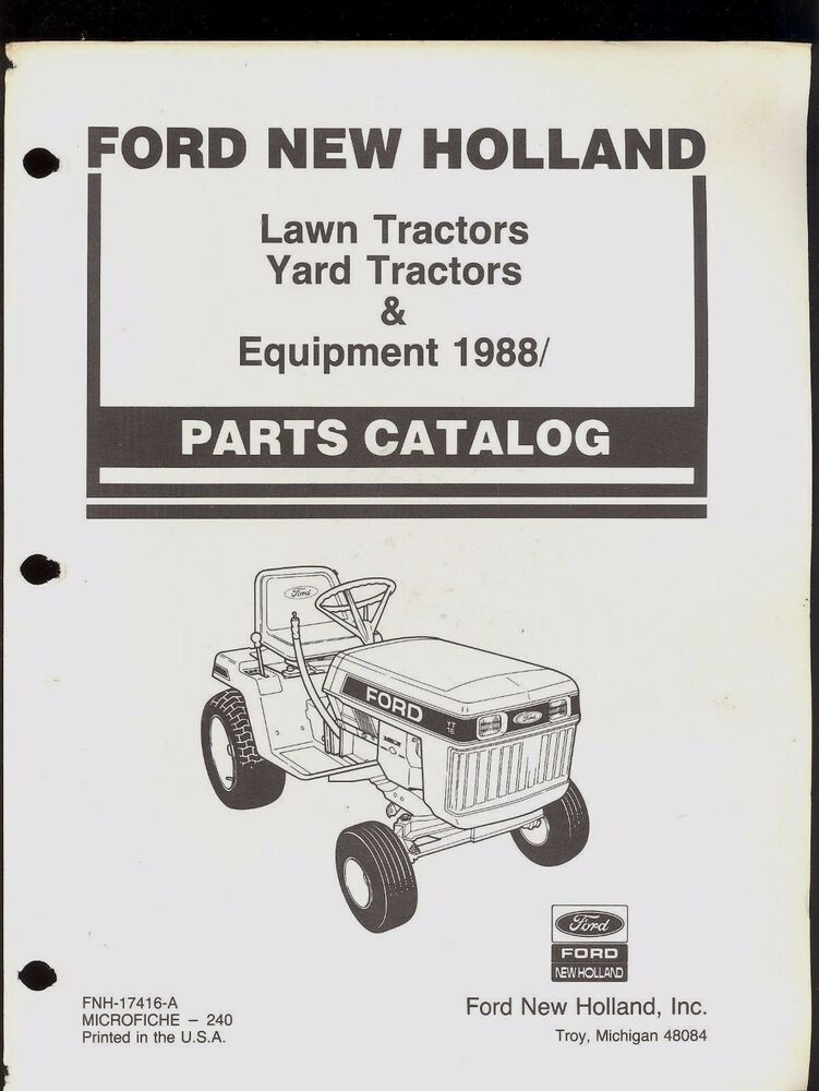 New Holland Tractor Manuals : Ford new holland lawn and yard tractor parts manual
