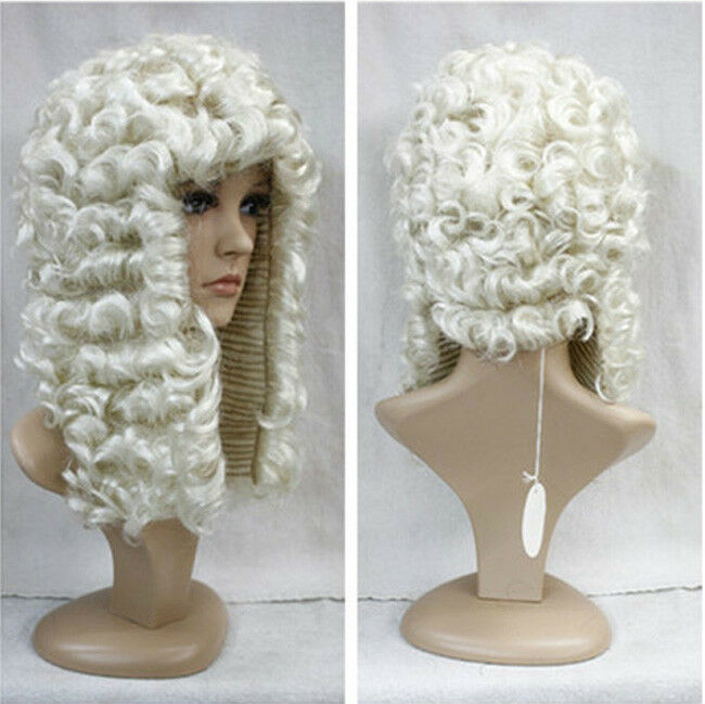 White Adult Judge Wig Barrister Lawyer Court Judges Fancy