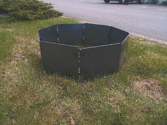 Portable Metal Fire Pit : Campfire portable fire pit ring insert quot blank