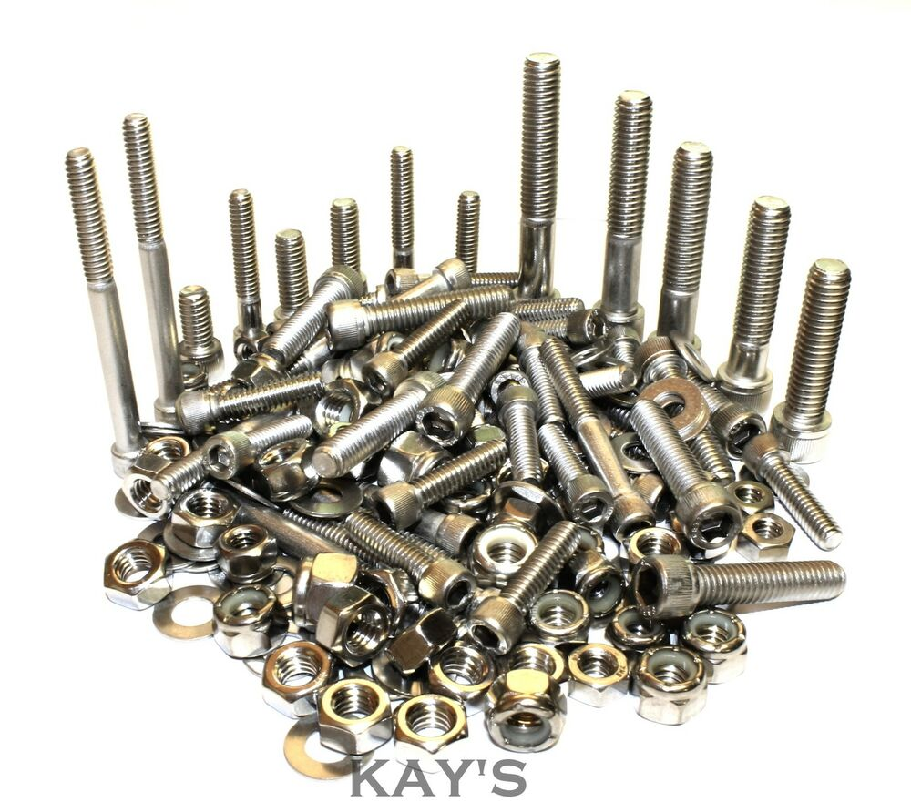 Unc Cap Screws Nut Washers 210 Piece Bolt Kit A2 Stainless