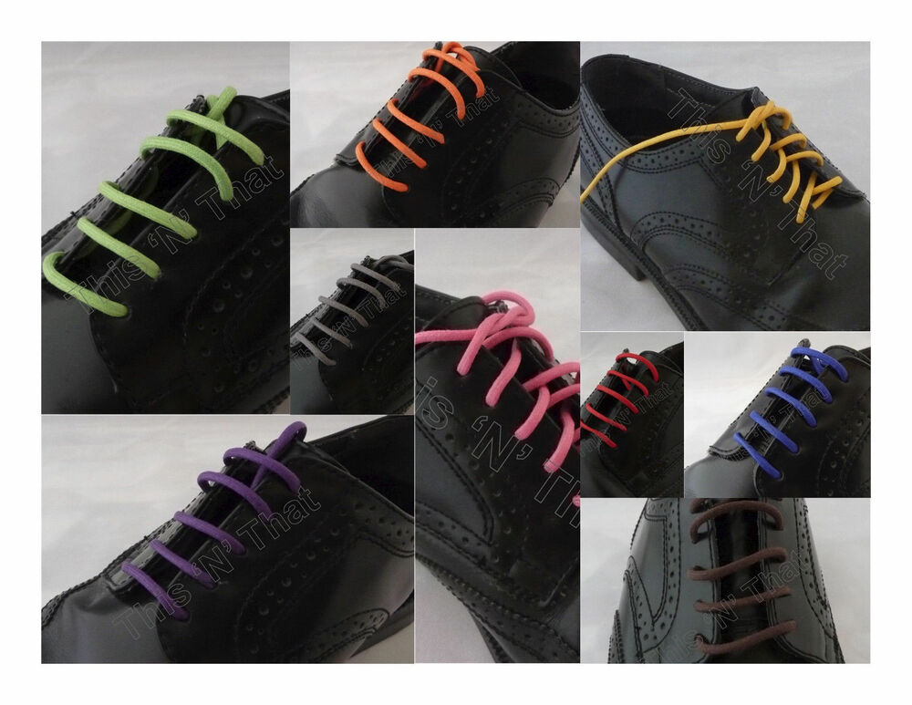 50 2nd pair colored waxed shoe laces sneaker work