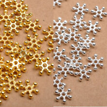 Silver & Golden FLOWER DAISY Spacer BEADS 6MM 8MM 10MM For Jewellry Findings
