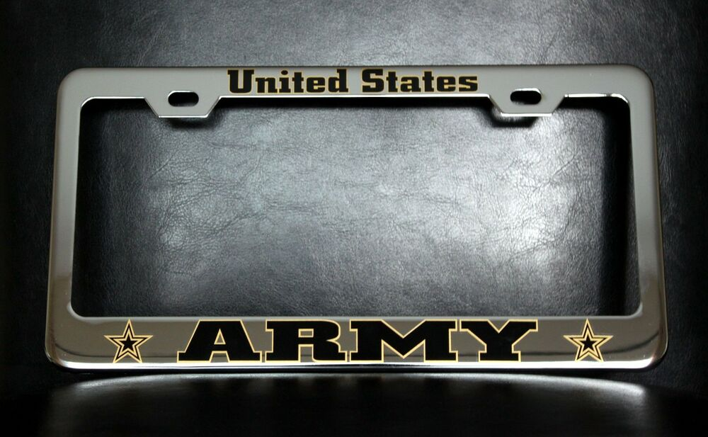 Quot United States Army Quot License Plate Frame Custom Made Of