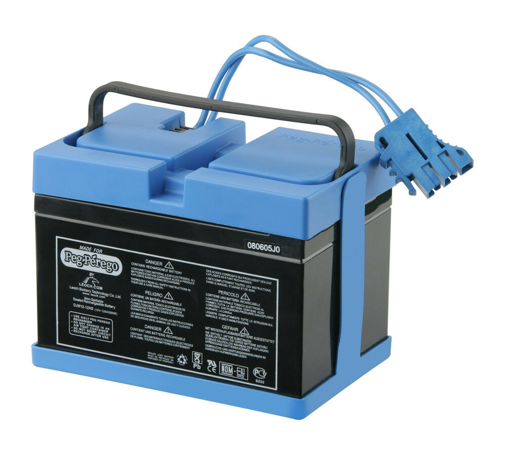 12 Volt Battery : New peg perego volt blue battery iakb also fits