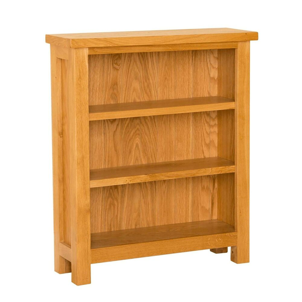 Newlyn Oak Small Bookcase Light Oak Handcrafted