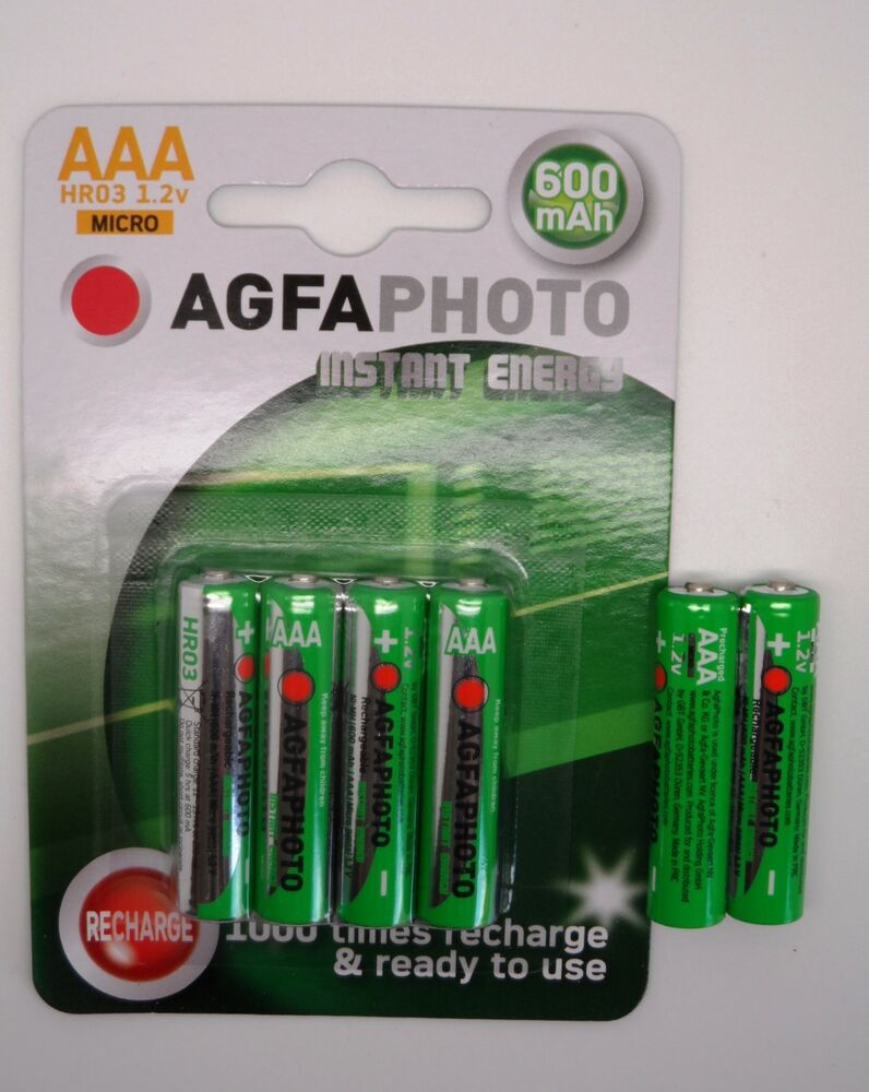 6 X Solar Garden Light Aaa 600mah Pre Charged Nimh Batteries Replaces Nicd Ebay