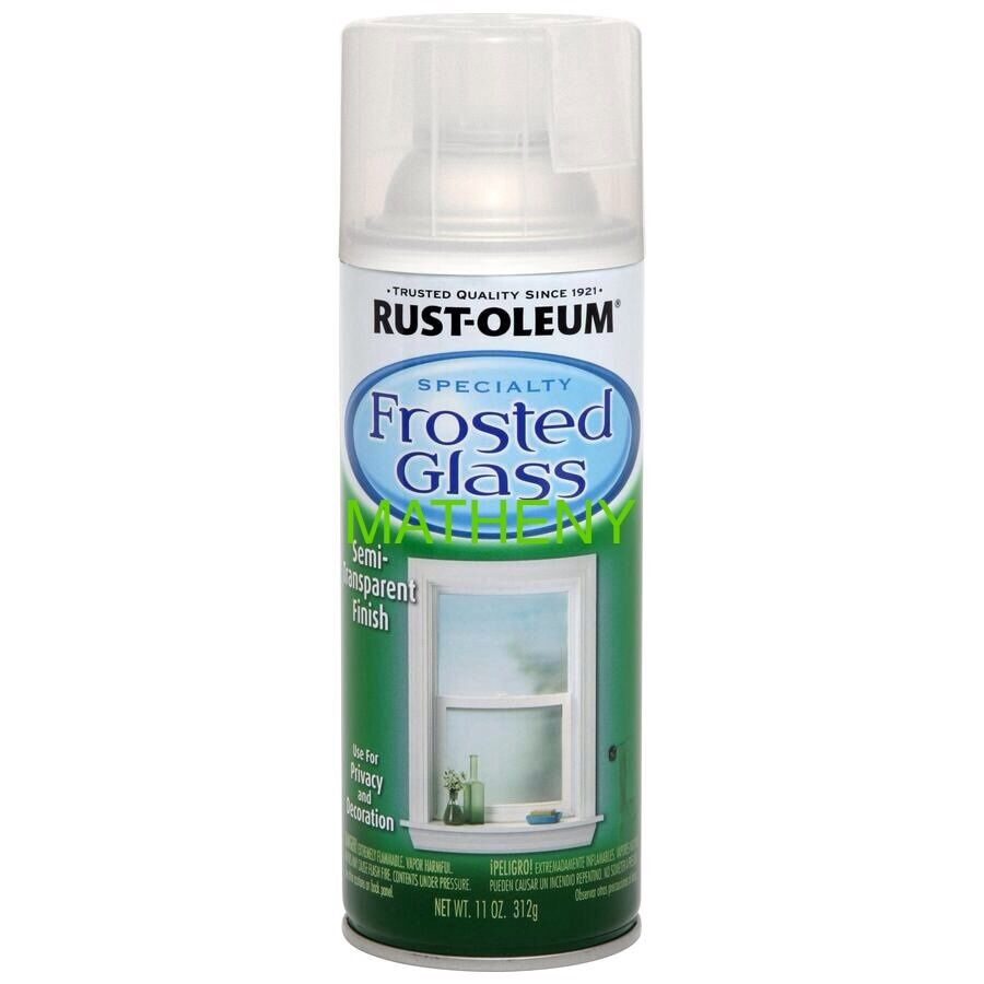 Frosted glass spray paint 11oz rustoleum privacy semi for How do i paint glass