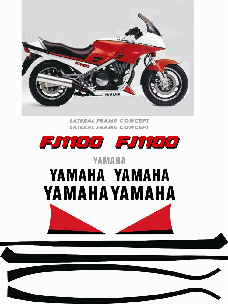 yamaha fj1100 fj 1100 1994 full replacement decals