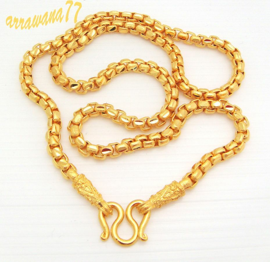 Chain 22K 23K 24K THAI BAHT YELLOW GOLD GP NECKLACE 20 ...
