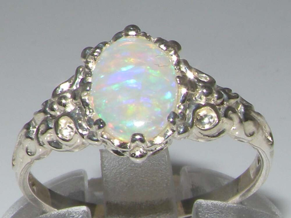 Luxurious Solid 925 Sterling Silver Natural Fiery Opal