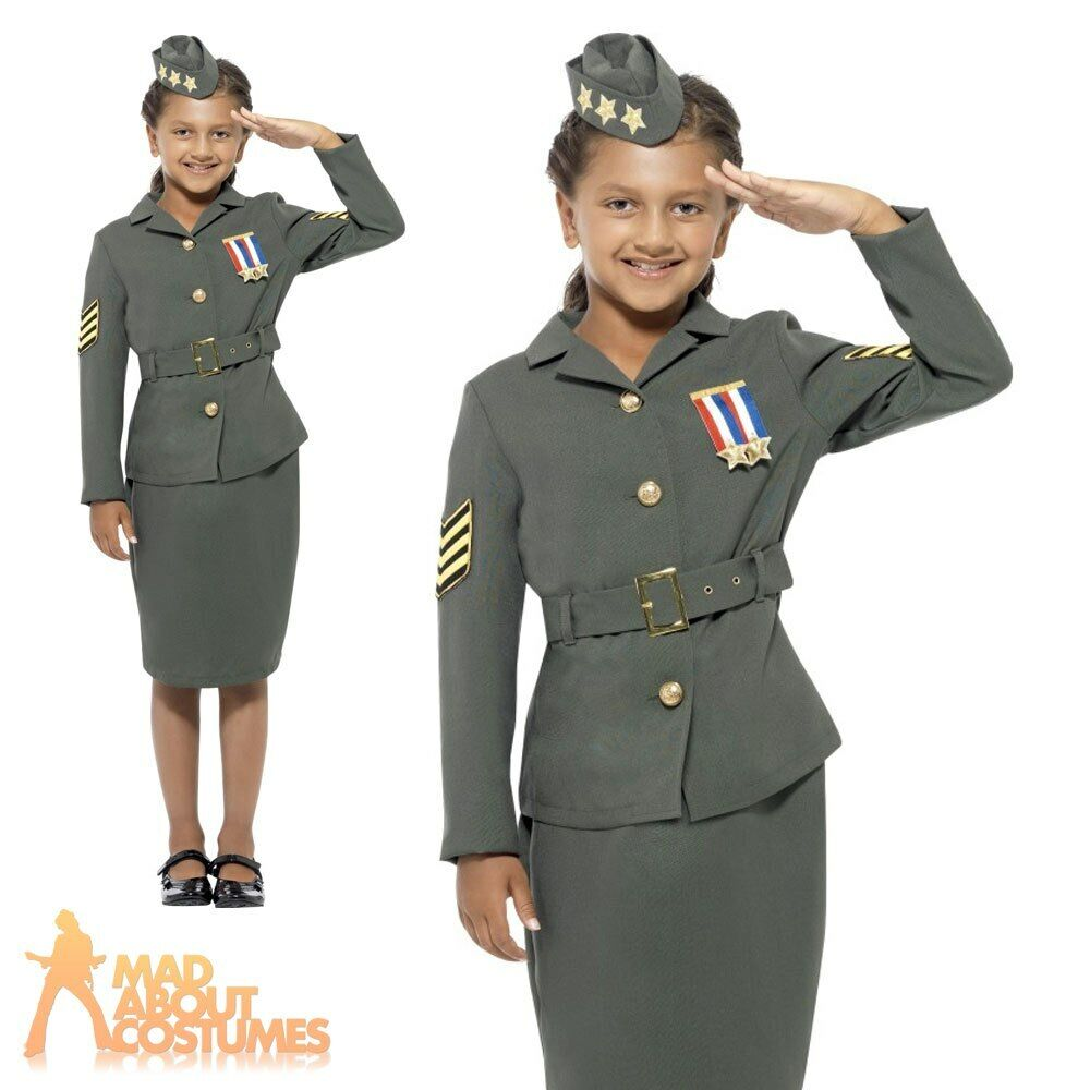 child ww2 army costume 1940s military soldier uniform fancy