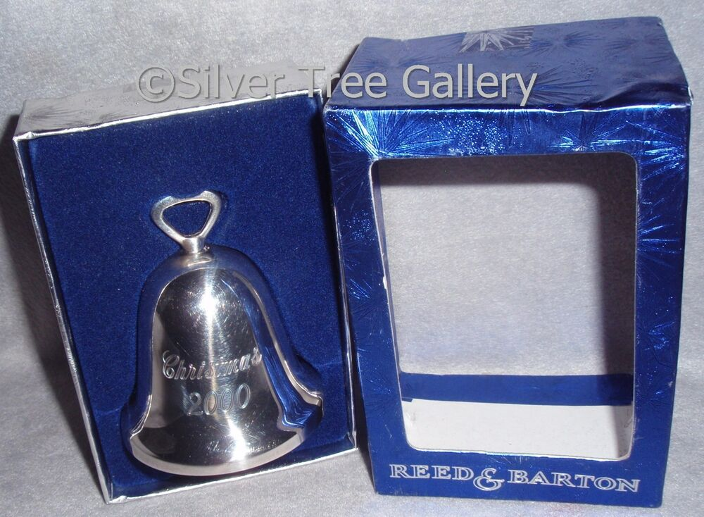 Mib reed barton silver xmas ornament engraved