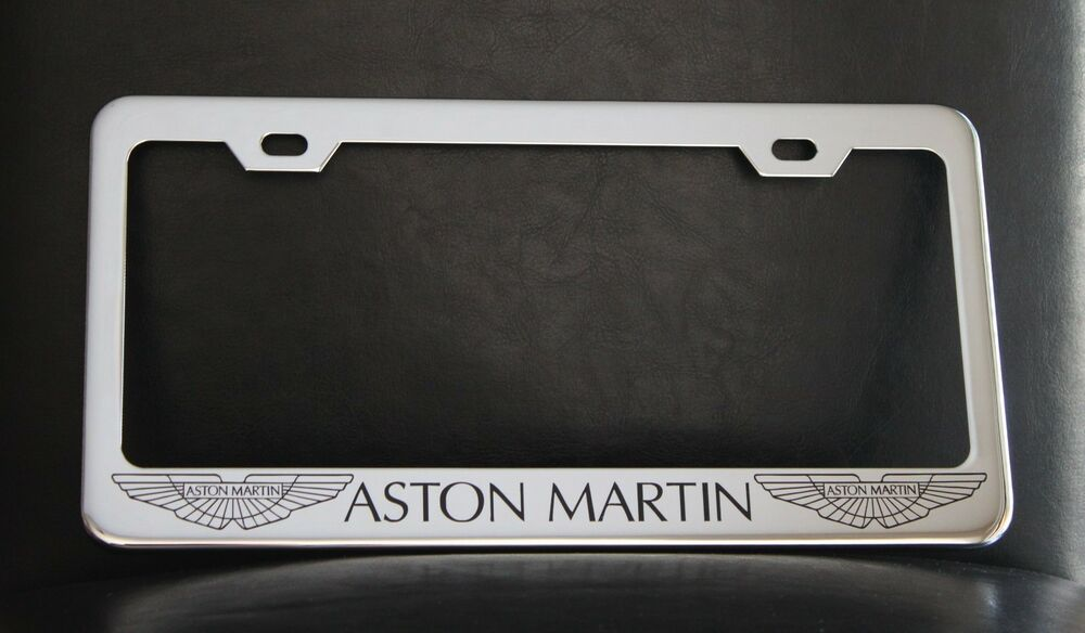 "My BMW Usa >> ""ASTON MARTIN"" License Plate Frame, Custom Made of Chrome Plated Metal 
